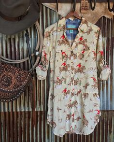 The Range Rider tunic  old west retro perfection right here! I mean how great is that pattern?! And endless styling options  long sleeves  duster  #fallfashion #tashapolizzi #newarrival #savannah7s #style