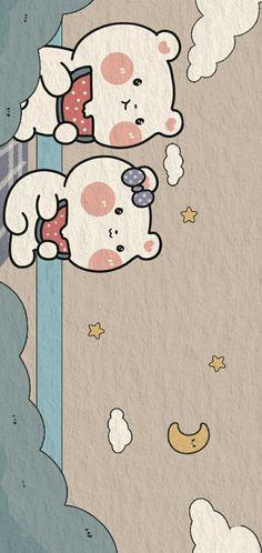 Simple Iphone Wallpaper, Cute Pastel Wallpaper, Cartoon Wallpaper Iphone, Soft Wallpaper, Homescreen Wallpaper, Bear Wallpaper, Cute Patterns Wallpaper, Kawaii Wallpaper, Cute Wallpaper Backgrounds