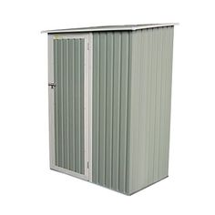 Palm Springs Metal Galvanized Steel Backyard Garden Storage Shed - x * Check out the image by visiting the link. (This is an affiliate link) Rubbermaid Storage Shed, Plastic Storage Sheds, Garage Wall Storage, Plastic Sheds, Steel Storage Sheds, Storage Sheds For Sale, Backyard Storage Sheds, Garden Storage Shed, Home Depot Shed
