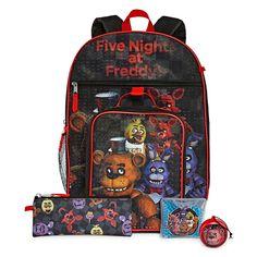 FIVE NIGHTS AT FREDDY/'S PENCIL CASE TIN PINK BACK AWAY FREDDY BLUE SCHOOL