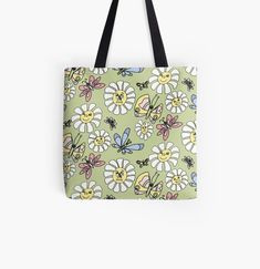 Designer Totes, Reusable Tote Bags, Faces, Art Prints, Canvas, Printed, Awesome, Flowers, Shopping