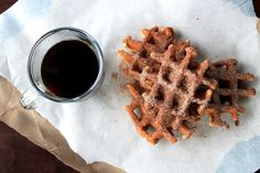 Coffee and waffle doughnuts  http://sweetstacks.com/coffee-doughnuts-kind-day/