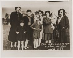 The Machefer family in Oradour. All of the people pictured here, except for the father, were killed by the SS during the June 10, 1944, massacre. Oradour-sur-Glane, France, October 1943.