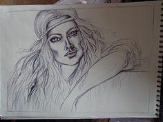 ritratto a penna #portrait #volto #donna #penna #arte #art #ritratto