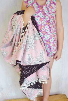 Blooming Pink Floral Polka Dot Baby Girl Kids by DixieBloom