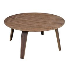 The Coopenhagen coffee table boasts a natural finish to lend simple yet striking style to your living room decor. Adorned with a round top, this modern table is finished with four tapered legs for a mid-century effect.