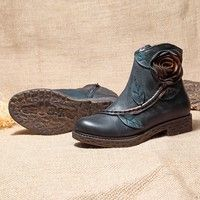 Brand: SOCOFY Shoe Type: Boots Toe Type:Round Toe Closure Type:Zipper Heel Type:Flat Heel Hei
