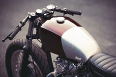 Low flyer: a cafe-styled XS650 from Clutch Customs of Paris.