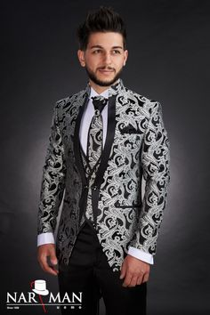 1 new message Mandarin Collar, Wedding Suits, Tuxedo, Mens Suits, Costumes, Suit Jacket, Menswear, Nasa, Blazer