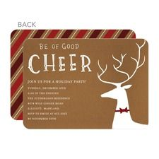 Reindeer Revelry Party Invitations