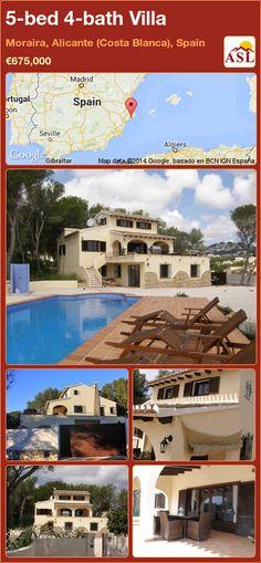 5-bed 4-bath Villa in Moraira, Alicante (Costa Blanca), Spain ►€675,000 #PropertyForSaleInSpain