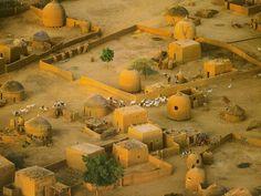 Africa | Detail Of Village Near Tahoua. Niger | Photographer unknown