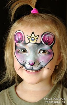 Mouse princess. Face paint by Tanya Maslova.
