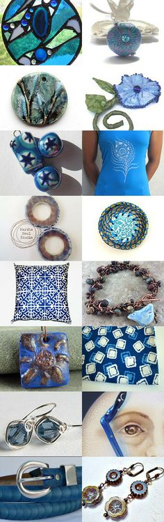 Brilliant Blues by Kathy Lindemer on Etsy--Pinned with TreasuryPin.com