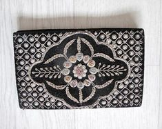 claireburrowsvintage by claireburrowsvintage Book Of Remembrance, Vintage Velvet, Metallic Thread, Handmade Items, Handmade Gifts, Diamond Pattern, Evening Bags, Purses And Bags, Shoulder Bag
