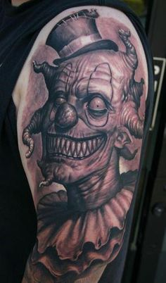 Creepy tattoo! I love all the white in this tattoo. Done by Josh Duffy at Timeline Gallery . #tattoo #tattoos #ink