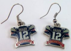 tom brady jersey earrings