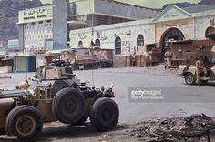 View of British troops with armoured Ferret Scout car and Land Rover. Army Post, British Armed Forces, Armored Fighting Vehicle, Armored Vehicles, British Army, Ferret, Troops, Military, Air Force