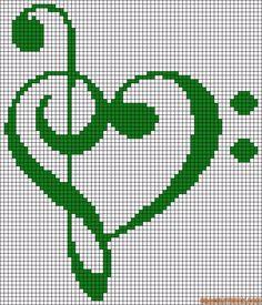 Alpha friendship bracelet pattern added by Margarita. music love heart g clef. Friendship Bracelet Patterns, Friendship Bracelets, Cross Stitch Love, Chart Design, Alpha Patterns, Hama Beads, Love Heart, Cross Stitching, Crochet