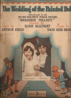 The Wedding of the Painted Doll, Vintage Sheet Music, Metro Goldwyn Mayer…