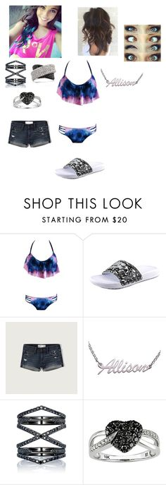 """""""carwash Allison"""" by flowersr09 ❤ liked on Polyvore featuring NIKE, Abercrombie & Fitch, Eva Fehren, Ice and Mark Broumand"""