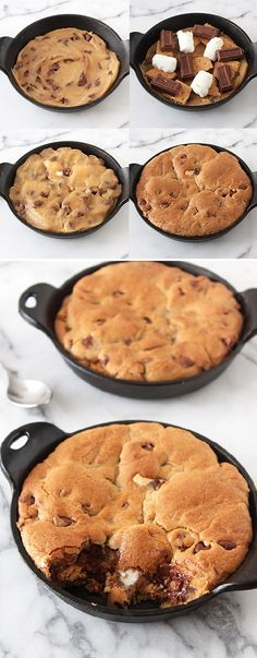 Smores Stuffed Pizza Cookies!