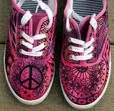 Zentangle sneakers shoes sneakers custom by ArtworksEclectic Custom Sneakers, Custom Shoes, Shoes Sneakers, Painted Sneakers, Hand Painted Shoes, Sharpie Shoes, Nike Inspiration, Nike Motivation, Nike Tights