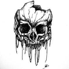 Day 30 : #inktober2016  Wreck skull Find me on periscope to watch me drawing this in LIVE   #art #design #graphicdesign #draw #painting #paint #awesome #artwork #artist #amazing #drawing #beautiful #blackandwhite #inktober #wreck #old #oldschool #skull #skulltattoo #skulls #horror #halloween #scared #tattoo #persicope #sketch #sketching #sketchbook #illustration