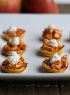 Spiked Mini Apple Tarts with Cinnamon Whipped Cream - Carrie's Experimental Kitchen