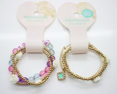 >> Click to Buy << Hot sale 3 pieces/set  children lovely bracelet white flowers gold metal accessories purple pearl with letter kids jewelry #Affiliate