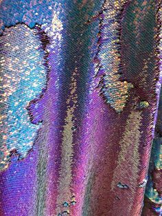 Fabric By The Yard Pink Iridescent Sequin Holographic Multicolor Fashion Mermaid Hologram Large Paillette Dusty Rose Iridescent