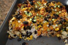 Healthy Chicken Nachos...I love nachos!