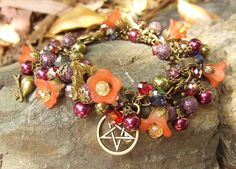 Beaded Goddess Charm Bracelet - HEDGEWITCH - Wise woman - Healer - Midwife - Wiccan - Magick spells - Blessings  By White Raven Designs