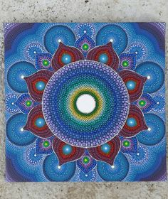 Original hand painted Mandala vibrant and relaxing by DiaGifts
