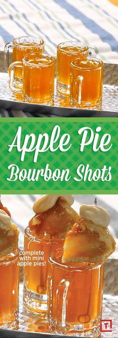 Shoot Back These Apple Pie Bourbon Shots