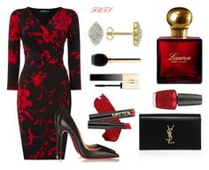 Hey Sexy Lady by flybeyondtheskies on Polyvore featuring Lauren Ralph Lauren, Christian Louboutin, Yves Saint Laurent, Clarins, Guerlain, Ralph Lauren and OPI