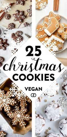 Irresistible Vegan Christmas Cookies You Need to try! Bake them now! Gingerbread, gluten-free, something for Vegan Christmas cookies recipes! Bake them now! Gingerbread, gluten-free, something for everyone! Vegan Christmas Cookies, Holiday Cookies, Christmas Treats, Christmas Baking, Christmas Parties, Cookies Vegan, Christmas Christmas, Vegan Holiday Cookie Recipe, Christmas Cakes
