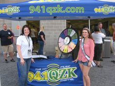 The Mineral County Fair Queen is ready to spin. Buy this Prize Wheel at http://PrizeWheel.com/products/tabletop-prize-wheels/tabletop-black-clicker-prize-wheel-12-slot/.