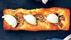 pæretærte Sweet Tarts, Cake Cookies, Pear, Cake Recipes, Muffin, Sweets, Breakfast, Morning Coffee, Easy Cake Recipes