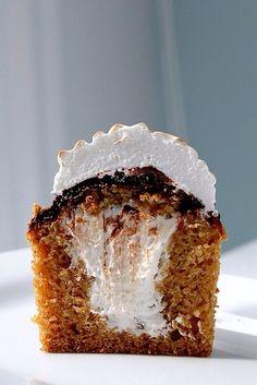 S'more cupcakes! So good!