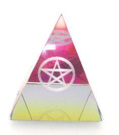 Laser Etched Pentagram AB Pyramid