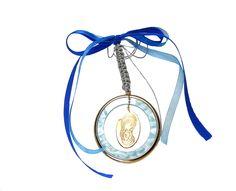 Πανέμορφο κρεμαστό γούρι-φυλαχτό για αγόρι.  Ιδανικό δώρο για νεογέννητο & βάπτιση. Headphones, Headset, Headpieces