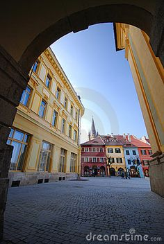 Photo about A shot taken under an arch in the streets of Sibiu, Romania. Image of dwelling, travel, residence - 2322716 Sibiu Romania, Arcade, Medieval, Stock Photos, Street, City, Places, Travel, Image