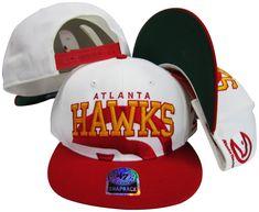 Atlanta Hawks Two Tone Big Logo Plastic Snapback Adjustable Plastic Snap  Back Hat da7075f9ad0a