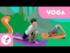 In this new educational video about yoga, children will learn both sun salutations and yoga poses with animals! This video includes several classic yoga pose.