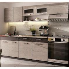 Kuchyně Moreno II 240 dub picard / šedá láva