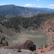 Looking down into the crater from the top--Dotsero, Colorado's volcano!