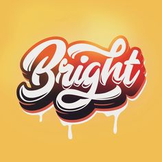 Lettering of #Bright . .⏬⏬⏬ FOR COMMISSION & INQUIRY Send to my email in bio . #handlettering #typography #moderncalligraphy #TYxCA… Typo Logo Design, Typographic Design, Lettering Design, Graffiti Lettering, Typography Letters, Sketches Of Spain, Radio Icon, Fancy Letters, Brand Fonts