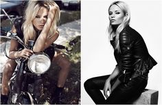 Fashion editorials on motorcycles