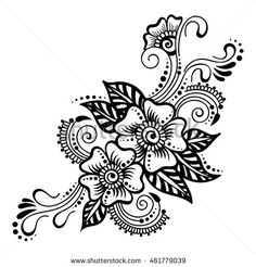 Find Vector Abstract Floral Mehndi Element Henna stock images in HD and millions of other royalty-free stock photos, illustrations and vectors in the Shutterstock collection. Henna Hand Designs, Henna Designs On Paper, Mehndi Designs For Beginners, Simple Mehndi Designs, Henna Tattoo Designs, Floral Designs, Henna Tattoo Hand, Simple Henna Tattoo, Easy Henna